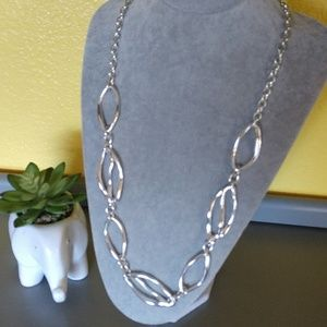 Beautiful Adjustable Silver Colored Necklace